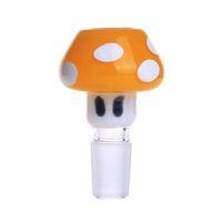 녹색과 노란색 버섯 유리 기억 만의 액세서리 14mm 또는 19mm 남성 공동 높은 품질 유니버설 유리 그릇