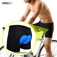 WOSAWE 사이클링 반바지 자전거 반바지 자전거 탄 속옷 남성 Shortpant 통기성 젤 3D 실리콘 패딩 버뮤다 속바지