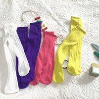 Çocuklar çorap 2020 yeni yaz çocuk delik örgü file çorap Moda kızlar diz yüksek pamuk nefes alabilen çorap C6367 dantel