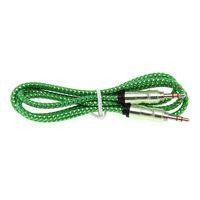 Nuevo 3.5 Cable auxiliar Cable de audio Estilo de bambú Estéreo Macho Cable auxiliar Cable Nylon Dorado Para Mp3 / Altavoz / Coche Suppion 500pcs