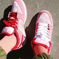 2020 Strangelove X SB Dunkly Low Valentines Day Bright Melon Gym Red-Med Soft Pink Girls Desinger Sneaker Extraño Love Pink Sneaker