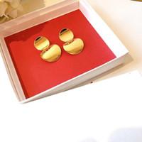 Moon Shaped Двойной диск Стад Серьги ювелирные изделия серьги Sphere для дам Новые ювелирные изделия бренда женщины Christmas Party Gif