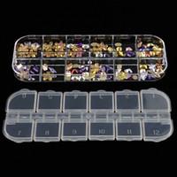 네일 아트 저장 상자 12 그리드 구획 플라스틱 스팽글 주최자 쥬얼리 미니 다이아몬드 빈 상자