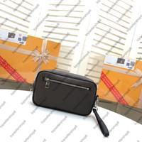 Çanta Kasai Inek Derisi Çanta Debriyaj N41664 Tasarımcı Hakiki Tuval Deri Cüzdan Çekin Flap N41663 Çanta Erkekler M42838 VDAHL