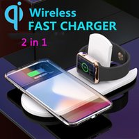 2 in 1 Wireless Charger Qi Fast Charging For Apple Watch 2 3...
