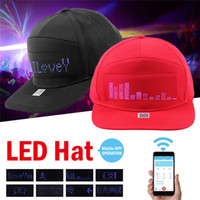 LED Panel Bluetooth Baseball Cap + Bluetooth LED Sunglass Mobile Phone APP Connection Wireless Dynamic Pattern Flashing Glasses