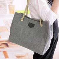 Large Capacity Ladies Shoulder Bag Handbag Canvas Casual Cro...