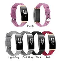 Нейлоновый холст тканый ремешок для часов для Fitbit вдохновлять / вдохновлять HR умные часы красный сменный браслет ремешок аксессуары