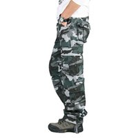 8 Pockets Tactical Pants Camouflage Camo Pants Men With Many...