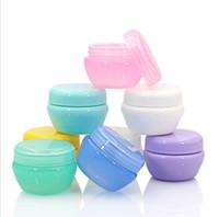 Plastik Mantarlar Kozmetik Boş Kavanoz Pot Göz Farı Dudak Yüz Kremi Numune şişe Konteyner 5g 10g 20g 30g 7 renk