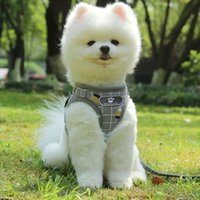 Nylon Mesh Kitten Puppy Reflective Dogs Harness And Leash Se...