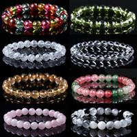 8mm A ++ Perlen Natürliche Steinstränge Armband Achsate / Amethyst / Rose Quarz / Lapislazuli / Malachit / Tigerauge Mode Heilung Armbänder Unisex