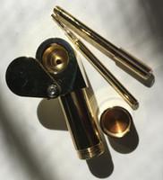 황동 프로토 흡연 파이프 증발기 금속 휴대용 파이프 재떨이 그릇 황금 궁극적 인 도구 담배 오일 허브 숨겨진 그릇