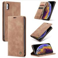 Caseme 플립 지갑 케이스 아이폰 XS XR XS 맥스 7 8 플러스 카드 슬롯 가죽 케이스에 대한 삼성 S10 S10 플러스