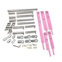 K9 Adulto Jogo Kits de Sujeição Cintos de Restrição com Collar Manacle Manilha Kit Restrições Kit de Aço Inoxidável para Casais