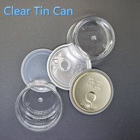 100ml 3. 5Gram Clear Can Plastic Tin Cans 33*65mm Smell Proof...