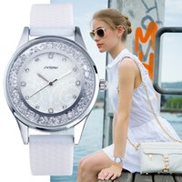 Sinobi Fashion Women's Diamonds Wrist Watches Silicone WatchBand Top Luxury Brand Ladies Ginebra Reloj de cuarzo Horario 2017