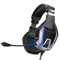 ONIKUMA K12 de alta sensibilidad del micrófono de diseño de reducción de ruido auricular para juegos de alta definición de sonido Gamer volumen de los auriculares con micrófono ajustable