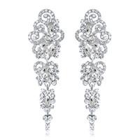 Nouvelles boucles d'oreilles de mariée avec cristaux strass goutte d'eau boucle d'oreille trouvailles de mariage accessoires de mariage pour les mariées BW-042