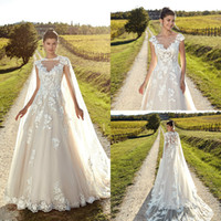 2019 Plus Size Wedding Dresses Eddy K Sheer Neck Lace Appliq...