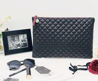 Sacs d'embrayage Mode féminine PU Graid Patten pure grande capacité Zipper enveloppe cosmétique Sac 3Colors