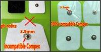 Vervanging Electroden Pad voor Compex Easy Snap-elektroden 2in x 2in voor rand, prestaties, sport elite, draadloze spierstimulatoren - 5pack