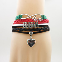 Infinity Love Sudan Country Bracelet Heart Charm Sudan Natio...