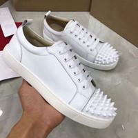 Novos 2020 Mens Sneakers Red inferior sapatos Low Cut Suede Pico sapatos para homens Mulheres Casual Shoes festa de casamento de cristal Sapatilhas de couro