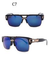 Fashion sunglasses anti-blue light flat mirror men and women Square retro sunglasses No logo best popular full frame gradient color
