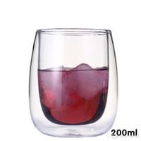 ذات الطابقين العزل الخيوط العزل الزجاج عصير الفاكهة القدح شفافة مقاومة للحرارة كوب الشاي المشروبات القهوة 8 5braE1