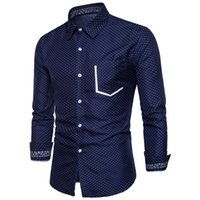 A wide range of men' s long- sleeved shirts with spotted ...