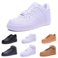 nike air force 1 af1 2019 Nuovo arrivo One 1 Dunk Scarpe tutto Nero Bianco Uomo Donna Sport Skateboard On High Low Cut Grano marrone Sneakers da ginnastica 36-45