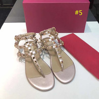 la qualité de la mode 6 couleurs conception cuir femmes Stud Sandales à bride arrière Pompes Sexy Ladies chaussures haut rivets mode taille 35-41