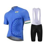 الهند رجل / إمرأة الصيف ركوب الدراجات مجموعة مخصص دراجة MTB طريق جبل سباق القمم الأزرق الدراجة مجموعة المريله قصيرة 9D جل تنفس