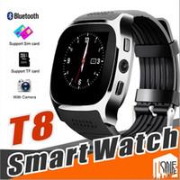 Para a Apple Iphone Android T8 Bluetooth inteligente relógio pedômetro SIM TF com câmera de sincronização Chamada de Mensagem Smartwatch pk DZ09 U8 Q18