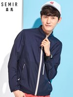 SEMIR Men' s Quicky Dry Jacket Mockneck Jacket with Full...