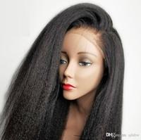 الشعر الجبهة الرباط الباروكات الإنسان مستقيم غريب للمرأة السوداء الجانبية الجزء العذراء البرازيلي الايطالية ياكي الخشن الرباط الباروكات كامل الشعر الإنسان