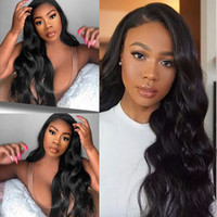 Lace Wig Human Hair Body Wave Wavy Full Lace Wigs Bleachable...