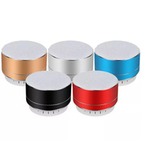 A10 alto-falantes portáteis Bluetooth Speaker liga de alumínio Cilindro Speakers Subwoofers TF Mini Modern wireless Bluetooth