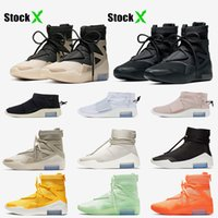 Nike Air Fear of god 1 String The Question Triple Noir Femmes Hommes Basketball Chaussures Shoot Around Light Bone Outdoor Designer Baskets Sneakers