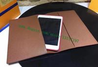 Planner Top Quality Portafoglio Brown Canvas Mono Coated Genuine Culfskin Desk Cover Agenda R20100 Unisex