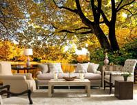 нестандартный размер 3d фото обои гостиная осень ботанический сад фотографии 3d картина диван тв фоне обои росписи нетканые наклейки