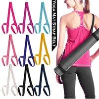 Bandes de résistance 1pc Yoga Mat Bande Bande Réglable Sports Sling Sling Épaule Port Exercice Stretch Elastic Haute Qualité