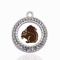 Squirrel Circle Charms Charms DIY Biżuteria Naszyjnik / Bransoletki / Choker Dokonywanie ręcznie
