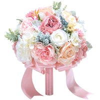 Вечный ангел, держа букет шелковый искусственный цветок свадебный праздник поставки свадебные