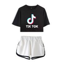 Tik Tok Software 2019 Nouveauté Summer Women Two Morceau Set Shorts et Beaux T-shirts Vêtements Chaud Sale Harajuku Imprimer