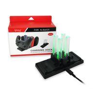 İn 1 Şarj Nintend için İstasyonunu Standı 6 Joy-Con ve Hızlı Nintendo Anahtarı için Şarj Yuvası Pro Anahtar Denetleyici