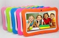 """Marque plus récents Enfants Tablet PC 7"""" Quad Core tablettes enfants Android 4.4 lecteur Allwinner A33 google wifi grand capot de protection du haut-parleur"""