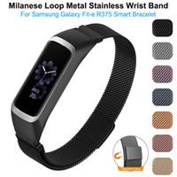 Moda Altın Klasik Milanese Paslanmaz Çelik Watch Band Samsung Galaxy Fit-e SM-R375 Milanese Döngü için Manyetik Döngü Kayışı