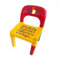 2021 atacado vendas quentes crianças letter letra cadeira de mesa amarelo vermelho